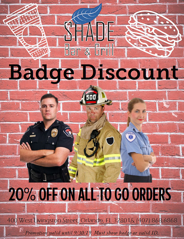 Shade Bar and Grill Orlando - Specials and Promotions